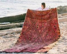 Authentic vintage Moroccan rugs by AliceWoutersRugs on Etsy