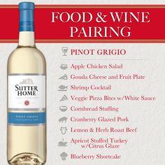 Sutter Home Wine & Food Pairing Series: Pinot Grigio for the Holidays! #WineWednesday #WW #WinePairing