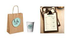 Lulú Café by Minimal Design Studio, via Behance - paper bags