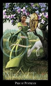 Don't run from your good by believing it is  TOO good for you, allow it, chase it! Page of Pentacles Tarot  Tonya Melendez, Intuitive Spiritual Counselor, RScP, CYT