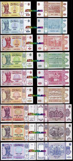 moldova currency | Moldova currency and Moldovian banknotes, paper money of Former Soviet ...