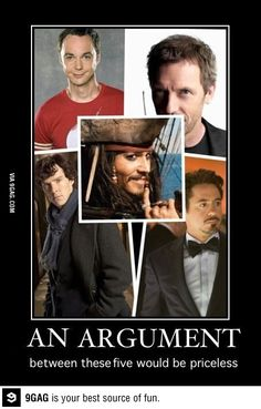 sherlock holmes Benedict Cumberbatch robert downey jr johnny depp iron man house The Avengers Big Bang Theory Sheldon captain jack sparrow pirates of the carribbean The Big Theory, Big Bang Theory Funny, Jorge Ben, Film Anime, Plus Tv, Funny Quotes, Funny Memes, Funny Humour, 9gag Funny