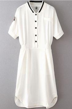 LUCLUC Summer Simple Half Sleeve  Dress