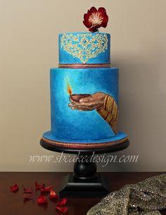 Shannon Bond Cake Design/ Festival of Lights Painted Cake/ www.sbcakedesign.com