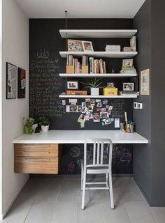 Alcove – contemporary – Home Office – Ottawa – John Donkin Architect Inc. – desk… – Home office design layout Office Nook, Home Office Space, Home Office Design, Home Office Decor, House Design, Office Ideas, Desk Nook, Wall Design, Office Designs