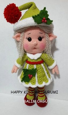 Cute Little Miss Elf-Amigurumi Crochet Pattern-PDF by BalimOrgu