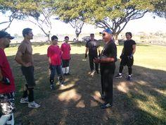 Master Lucky Shaffer sharing Manao! Pacific Wing Chun Kung Fu Association, Kailua Kona, Hawaii.