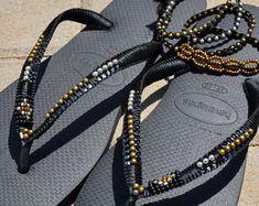 Sandals, Flip Flops, Black Sandals, Hippie Sandals, Boho Sandals, Beaded Sandals, Havaianas, Thong Sandal, Flat Sandals, Bohemian Shoes, Set - Edit Listing - Etsy