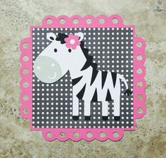 Zebra Theme Zoo Invitation Card for girls by lovetiesbymeggin, $33.75