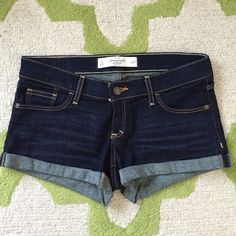 "[just reduced]Like new A&F denim shorts Great A&F dark wash denim shorts. Like new condition. Size 4/27. 2"" inseam. Abercrombie & Fitch Shorts"