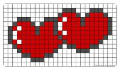 "Hjerte i hjerte [ ""hearts pearler bead pattern for all those whovians out ther. Hjerte i hjerte [ ""hearts pearler bead pattern for all those whovians out ther…- Pearler Bead Patterns, Bead Loom Patterns, Perler Patterns, Pearler Beads, Beading Patterns, Cross Stitch Patterns, Pixel Art Coeur, Cross Stitching, Cross Stitch Embroidery"