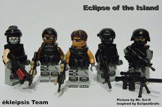 Lego special forces team! Legos, Lego Soldiers, Island Pictures, Lego Construction, Military Figures, Lego Figures, Lego Worlds, Custom Lego, Mega Man