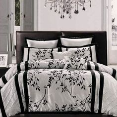 8pc Modesto King Comforter Set Platinum/Black by BlowOut Bedding. $81.99. Click here to see all of our bedding sets, curtains, and pillows.. Click here to buy 26 x 26 Euro Pillows. 8 Piece Lightweight Economy Bedding Ensemble 1 Comforter- Sizes are Queen 86 x86 King 101 x86 2 Pillow Shams -20x26 or 20x36 2 Euro Shams 2 Decorative Pillows 1 Skirt Queen 60 x80 x14 King 78 x80 x14 Washable Imported -100% polyester. Save 59% Off!