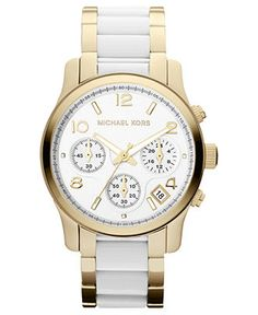 Spring 13 Trend: White and Gold MICHAEL KORS #watch BUY NOW!