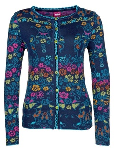 blue floral ivko cardigan- so bright and colorful!