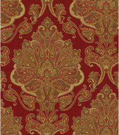 Upholstery Fabric-Waverly Aziza Garnet, $22.50