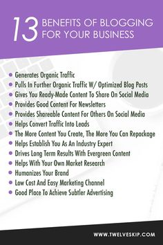 Why Should You Blog For Your Business? Here are the 10 benefits!
