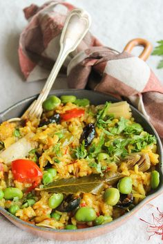 Vegetable paella {Vegan - gluten-free} - Ingredients g round cl fennel, 1 g of g de poivron. Raw Food Recipes, Veggie Recipes, Pasta Recipes, Vegetarian Recipes, Healthy Recipes, Vegan Food, Healthy Food, Sin Gluten, Vegan Gluten Free