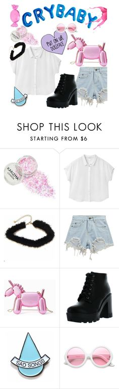 """Başlıksız #117"" by pinknpie ❤ liked on Polyvore featuring Monki, Chicnova Fashion, Kate Spade, Bamboo, Stay Home Club and ZeroUV"