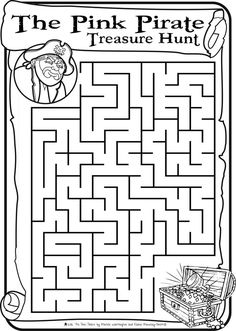 Pirate Maze and word find Part 1 Pirate Party Games, Pirate Activities, Library Activities, Classroom Activities, Activities For Kids, Pirate Day, Pirate Theme, Teach Like A Pirate, Magic Treehouse