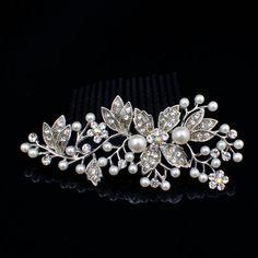 Fancy glitter Metal Silver Plated Rhinestone by MaahRoseJewellery