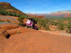 Pink Jeep Tours in Sedona, Arizona. Our family did the Broken Arrow Trail! Country is amazing and this tour allows you to truly experience it's beauty!