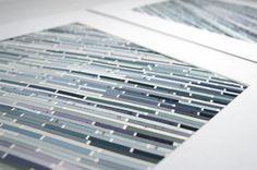 Paint Chip Wall Art - pick your color scheme, Grayscale shown
