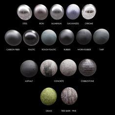 ArtStation - Physically-Based Materials Study [UE4], Blake Bjerke                                                                                                                                                                                 More