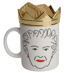 queen mug with crown by whitbread wilkinson | notonthehighstreet.com