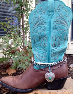 Lovely Boot Bling fits 14-16 shaft cowboy by FireSpiritandSoul