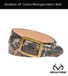 Realtree AP Camo Wrangler Men's Belt #realtree #camo #belt