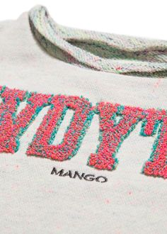 Flecked plush cotton-blend sweatshirt with embroidered message and logo on the front. Tambour Embroidery, Embroidery Art, Textiles Techniques, Embroidery Techniques, Mode Shoes, Textile Prints, Artwork Prints, Fashion Details, Fashion Prints