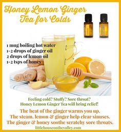 Honey Lemon Ginger Tea For Colds - Little House on the Valley