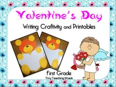 Fun and easy-assembly Valentine's Day writing craftivity for first graders. Various printables are included, too :)