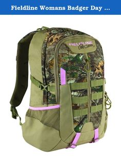 Fieldline Womans Badger Day Pack Backpack Pink Camo Realtree Hunting Camping 2B2. HYDRATION RESERVOIR COMPATIBLE VERTICAL FRONT ENTRY ZIPPERED STASH POCKET FRONT COMPARTMENT WITH ORGANIZER FLEECE-LINED SUNGLASS AND DIGITAL MEDIA POUCH PADDED BACK ULTRA QUIET ZIPPER PULLS COMPRESSION STRAPS PADDED SHOULDER STRAPS LEFT AND RIGHT SIDE ELASTIC POCKETS- PERFECT FOR STORING WATER BOTTLES CAMO IS REALTREE AP HD WITH PINK TRIM SIZE: 19.5 IN X 10.8 IN X 7.3 IN FIELDLINE OFFERS LIFETIME GUARANTEE!!.