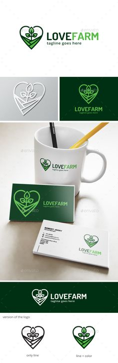 Love Farm - Logo Design Template Vector #logotype Download it here: http://graphicriver.net/item/love-farm-logo-/13303992?s_rank=399?ref=nexion