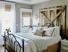 walls and headboards on a budget..You have to admit…this is really cozy and warm!