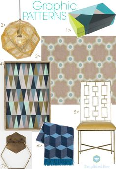 2013 Design Trend :: Graphic Patterns - Simplified Bee