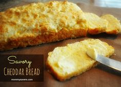 Savory Cheddar Bread (If you like Red Lobster Cheddar Bay Biscuits, you'll like this!)