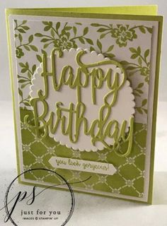 - Too Cool Stamping - Project Sheets Friday—Happy Birthday Gorgeous! – Too Cool Stamping Birthday Cards For Women, Handmade Birthday Cards, Happy Birthday Cards, Birthday Images, Birthday Quotes, Birthday Greetings, Birthday Wishes, Birthday Parties, Making Greeting Cards