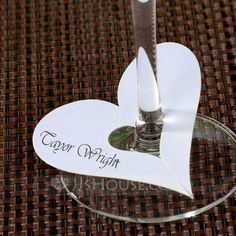 Place Cards Classic Theme Pearl Paper (set of 12) Heart Design Wedding Decorations