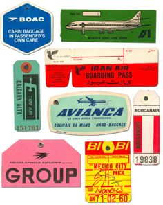 vintage luggage tags – via graphicdefiner