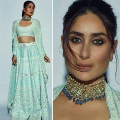 The perfect aqua green lehenga for bridesmaid. For order booking email Green Lehenga, Indian Lehenga, Lehenga Choli, Anarkali, Kareena Kapoor Lehenga, Sabyasachi Sarees, Indian Wedding Outfits, Bridal Outfits, Indian Outfits