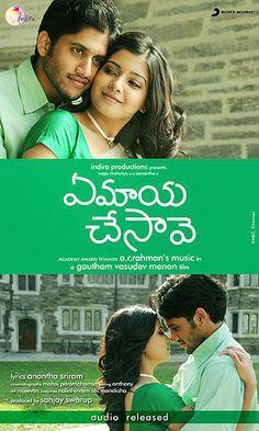 Ye Maaya Chesave'-Telugu movie poster http://leojpeo.blogspot.in/2012/02/not-so-deewana-about-ek-deewana-tha.html