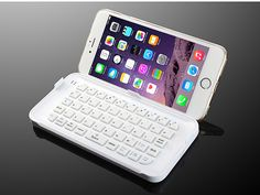 Take a look at the very trendy Bluetooth Keyboard accessory for the larger Apple phablet the iPhone 6 Plus.