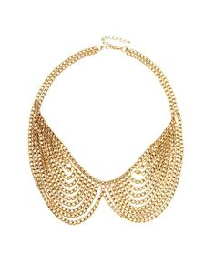 Enlarge ASOS Multi Chain Rounded Collar Necklace