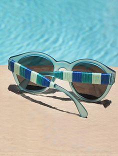 DIY: wrapped sunglasses