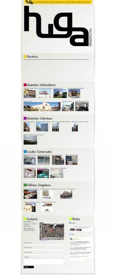 """Web para """"Huga Arquitectos"""" by Creaciones Curiosas"""