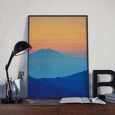 Your place to buy and sell all things handmade Color Calibration, Nature Prints, My Images, Printable Art, All Things, Pdf, Display, Mountains, Sunset
