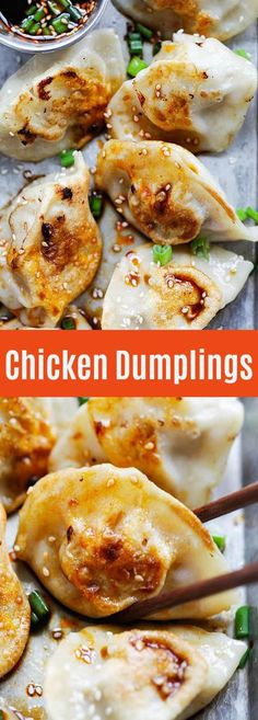 Chicken Dumplings - Chinese dumplings with ground chicken and vegetables. Homemade dumplings are healthy and great as a light meal for apppetizer | rasamalaysia.com